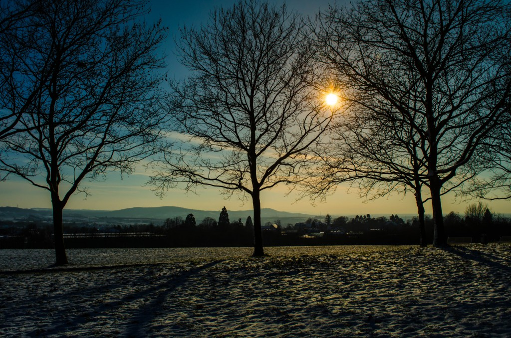Winter Sunset in Wiesloch